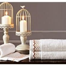 100% algodón doble lazo bordado Hotel cara toallas