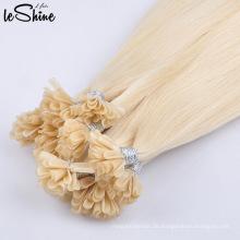 Super Qualität vor verklebten menschlichen doppelt gezeichnet Nagelhaut ausgerichtet Nagel U Spitze Haarverlängerungen