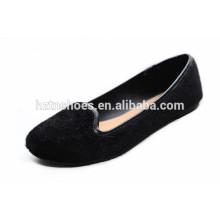 Top-Mode-Qualität Loafers bequeme Rosshaar flache Schuhe schwarze Frauen zu Fuß Schuhe 2015