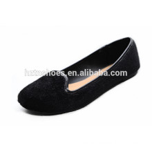 Top fashion high quality loafers comfortable horsehair flat shoes black women walking shoes 2015