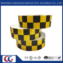 Fita de conspicuidade reflexiva Design preto / amarelo grade (C3500-G)