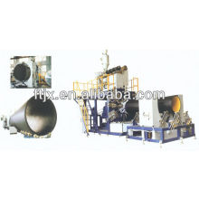 diameter HDPE large hollow wall winding pipe extrusion line