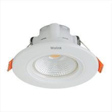 Kommerzieller AC85-265V BIS genehmigt die Einbau-COB 3w-Lampe, die hinuntergeführt wird