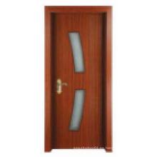 Simple diseño clásico Puerta de madera maciza