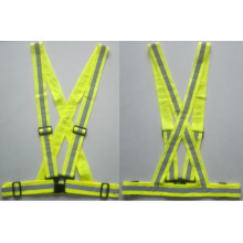 EN13356 Certificate yellow reflecting safety belt
