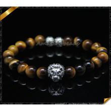 Nuevas pulseras de la manera del diseño con los granos de la piedra del ojo del tigre (CB0116)