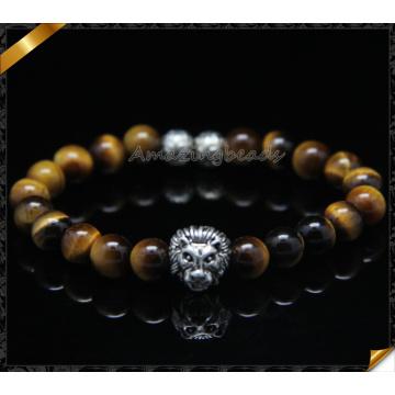 Braceletes da forma do projeto novo com grânulos da pedra do olho do tigre (CB0116)