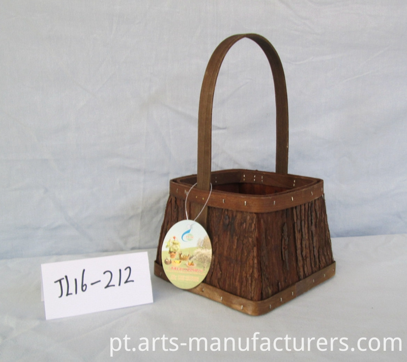 Wood bark basket