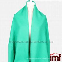 Las señoras 100% de las lanas espesan el mantón largo del verde del mantón del invierno