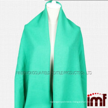 100% wool ladies thick winter shawl green long shawl