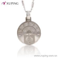 Xuping 12 signos del zodiaco animal joyería colgante con joyas de acero inoxidable (colgante-00017)