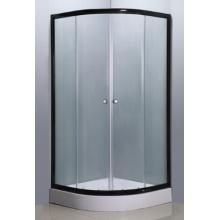 Simple Shower Enclosure with Black Aluminium (E-01Black)