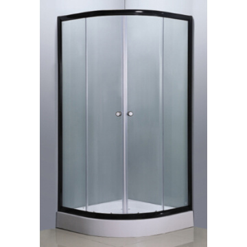Simple Shower Enclosure with Black Aluminium (E-01Black)