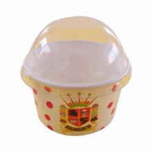 Custom printed ice cream paper cup with love/cute design, various logos are available