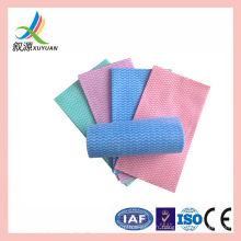 Rouleau de tissu de nettoyage jetable économique non-tissé spunlace