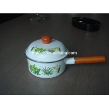 Panela de chá Enamelware Casserole com alça única panela de molho de esmalte