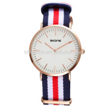 Wholesale top brand quartz watches custom nylon strap watch,men sport watch