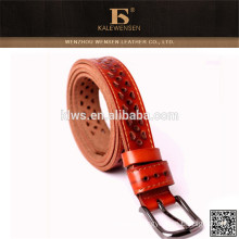 popular leather belt for women with griding hollow ladies' decoration belt
