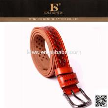 Cinto de couro popular para mulheres com cinto de decoração griding hueco ladies '