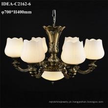 candelabro de cobre luz lustre romântico clássico