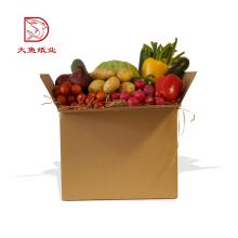 Embalaje de caja de papel plegable grande a granel del logotipo de encargo al por mayor para la comida
