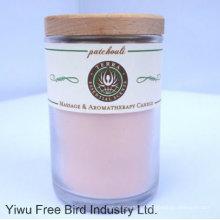 Velas de tarro de cristal perfumadas / vela de cera de soja con tapa