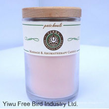 Scented Glass Jar Candles/Soy Wax Candle with Lid