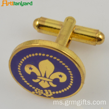 Gold Customized Metal Cufflink For Decoration