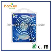 Etanche led éclairage de bande époxy crystal / silicon caoting/hollow tube / tube de silicone