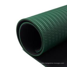 custom logo wholesale  private label natural thick solid color anti slip black yoga mat natural rubber