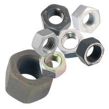 Метрические алюминиевые шестигранные гайки с черным оксидом