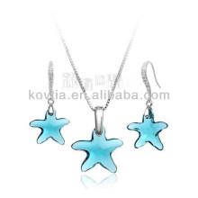 Niedliche fünfzackige Sternkristallschmucksachen für Mädchen