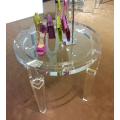 Table basse ronde en acrylique transparent
