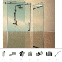 Matériel de clôture de rouleaux de porte de douche coulissante en verre de bonne qualité de haute qualité
