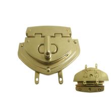 Handbag Accessories Gold Colored Metal Turnlock Buckle Metal Bag Lock