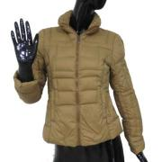 women\'s casual down jacket with solid color