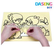 Bricolage art de sable peinture cartes enfants handcraft jouet
