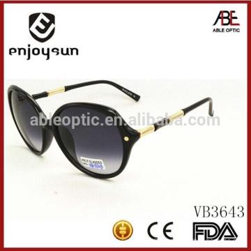 Италия дизайн дамы моды круглые солнцезащитные очки с металлическим и ацетатным комбинированным храмом