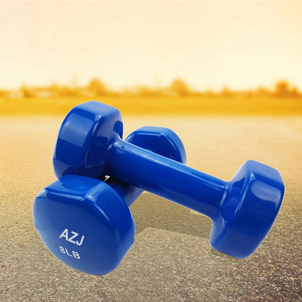 8lb Rubber Coated Dumbbell 1