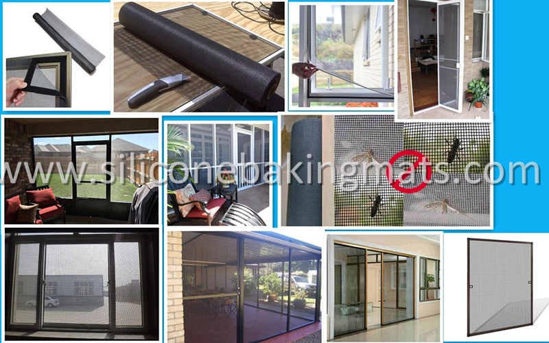 Application Of Fiberglass Insect Screen