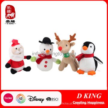 Animais macios enchidos luxuoso dos brinquedos do Natal