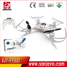 2.4G 4CH 6-Axis drones quadcopter con luz LED FY530