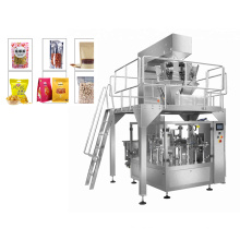 Auto Puffed Food Candy Peanuts Premade Pouch Packing Machine for Granual