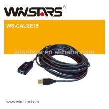 Cabo de extensão ativo USB 2.0 de 480Mbps, amplie o sinal USB até 20m