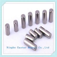 N42 Niquelado medida imán de neodimio cilindro