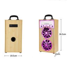 Factory bluetooth speaker with fm radio,bluetooth power garden speaker, led light bar table speaker