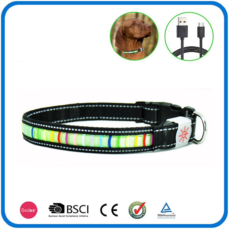 Night Bright Rechargeable Dog Collars