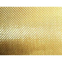 Malla de alambre prensada de cobre amarillo (armadura llana, armadura de la tela cruzada)