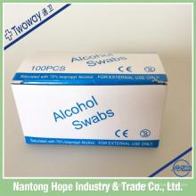 compressas descartáveis de álcool estéril para uso médico