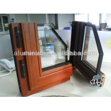Perfiles de madera para puertas y ventanas de aluminio